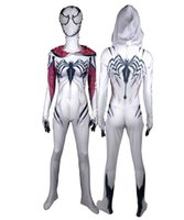 Girls Venom Spider Gwen Stacy Cosplay traje superhéroe Spandex Zentai Body Halloween Spiderman Cosplay traje entrega gratis