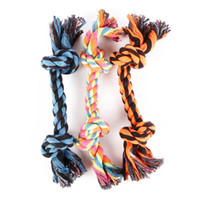 Pets Dog Cotton Chews Knot Toys Colorful Durable Braided Bon...