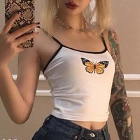 Summer White Butterfly Sexy Ladies Sling Fashion Print Women...
