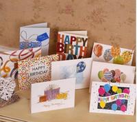 달콤한 당신을 위해 사랑스러운 생일 축하합니다 감사합니다 호의 선물 카드 인사말 크리스마스 인쇄 된 카드 / 키즈 선물 100pcs 무료 배송