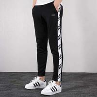 Design der neuen Männer Hosen Mode Jogging Hip Hop Stripped Bleistift Hose Mit