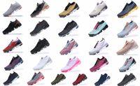 Yeni 2018 2019 Chaussures MOC 2 Laceless 2.0 Koşu Ayakkabıları Üçlü Siyah Tasarımcı Erkek Kadın Sneakers Fly Beyaz Örgü Yastık Trainers Zapatos