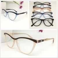 الجديدة أعلى جودة العلامة التجارية تصميم بصري إطارات الرجال النساء خمر خلات نظارات القط النظارات بلانك نظارات إطار نظارات بالجملة 0122