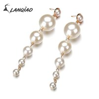 Long Simulated Pearl Exaggerated Beads Statement Pendant Fas...