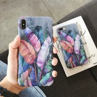 Vintage Banana Leaf Phone Cases For iPhone XS Max XR For iPh...