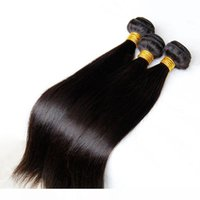 K brasilianische peruanische Malaysian Indian Cambodian Gerade Virgin Haar Weaves Bundles 3 4 Stück Rohboden Remy Menschenhaar-Verlängerungen Doub