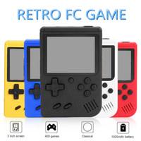 مصغرة المحمولة ألعاب الفيديو المحمولة الرجعية 8 بت نموذج ل fc 400in-1 ألعاب AV خط ربط التلفزيون عرض اللون lcd لعبة لاعب للأطفال هدية