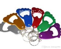 هدية الإبداعية المفتاح الزفاف الألومنيوم القدم الفتاحات الصغيرة شكل فتاحة زجاجات البيرة مع مفتاح سلسلة وسهلة الاستخدام جودة عالية 0 75sb