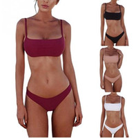 New Summer Women Bikini Set Push-Up UnPadded Costume da bagno Swimwear Triangolo Bather Suit Costume da bagno Biquini