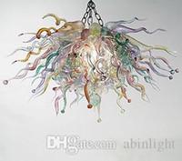 스타일 아트 유리 샹들리에 조명 LED 전구 수제 호텔 장식에 대한 무라노 유리 현대 샹들리에를 불어