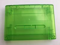Запасная версия для игры в патронах для Nintendo Super NES прозрачный зеленый