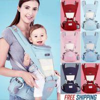 Portabebés lindo Bebé infantil Hipseat Sling Frente Canguro Portador de abrigo para bebé