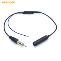 Adaptador de antena FM FEELDO radio de coche con la instalación Booster Cable conector para Volkswagen Audi BMW Ford del enchufe del arnés del alambre # 6006