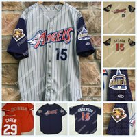 15 Tim Salmon 2001 Anaheim Angels Authentic Rawlings 100 Seasons Mike Trout Skaggs Garret Anderson Joe Mauer Rod Carew Vintage Jersey