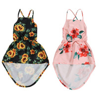 sunflower Summer Toddler Baby Girl Sleeveless Dress Clothes ...