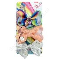 Diamant bowknot Hairpins Jojo Siwa Girls bébé Bow cheveux Boutique Ruban Laser Grosgrain Sequin Accessoire Tête 3pcs clip Cheveux / SetC121006