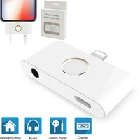 3 in 1 HOME Button 3. 5mm Audio Jack Charger Adapter Converte...