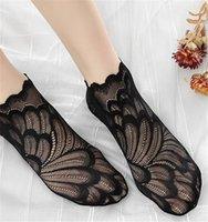 Kadın Dantel Saf Renk Giyim Kadın Skinny Bilek uzunluğu Nefes Çorap Çiçek Bayanlar Kısa Çorap Moda yazdır