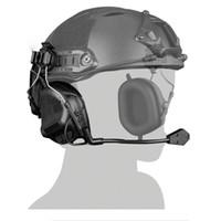 Тактический Шлем Глава Носить Версию Гарнитуры Airsoft Стрельба Охота Наушники Водонепроницаемый Боевой Wargame Гарнитура Пейнтбол Наушники