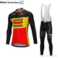 2018 thermique thermique cyclisme maillot à manches longues et cyclisme pantalons de bretelles de cyclisme Kits de cyclisme Ciclismo Bicicletas MTB Sports Wear B18110301