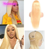 150% Density Full Lace Wigs Blonde Color Silky Straight Body...