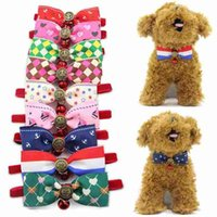 Lovely Bow Cats Dog Tie Dogs Bowtie Collar Pet Supplies Bell...