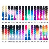 옹 브르 3 색 합성 머리 장식 24 인치 공장 가격 점보 머리띠 Kanekalon Xpression 머리 땋기 머리 크로 셰 뜨개질 머리카락 머리카락