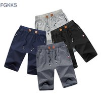 FGKKS 2018 Solid Color Men Shorts New Summer Fashion Mens Be...