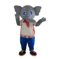 귀여운 회색 코끼리 마스코트 의상 복장 카니발 축제 상업 드레스 성인 크기 만화 마스코트 의상
