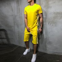 Tracksuit Sporting Brand- Clothing Casual Track Suit Men T-shirt+Short Pants Mens sporting suits Feb26