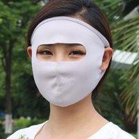 6 colores de Verano de protección solar grande Respirador Ventilación Mascarilla facial edad Mujeres Boca máscara máscaras transpirables ZZA1952