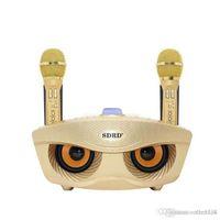 Nouveau haut-parleur de microphone de changeur vocal sans fil portable portable mobile téléphone Bluetooth Karaok famille KTV DHL