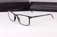 أحدث P8112 نظارات فائقة خفيفة إطار 54-17-145 معبد ل norble مصمم A + لوح + سبيكة لوصفة طبية نظارات كامل تعيين حالة OEM