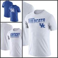 Kentucky Wildcats Línea de banda leyenda Rendimiento camisetas de manga corta impresa O-Cuello T Escuela de Fútbol Los deportes de equipo camisetas