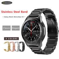 Bracelet en métal pour Samsung Gear S3 Frontier / Galaxy Bracelet montre 46mm 22mm Smartwatch bracelet en acier inoxydable Huawei montre GT S 3 46