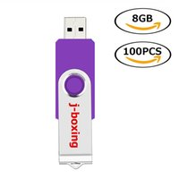 Toptan 100 ADET 8 GB USB Flash Sürücüler Metal Döner Flash Memory Stick PC Laptop Tablet Kalem Sürücü Başparmak Depolama için 10 Renkler Ücretsiz Kargo