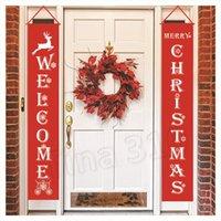 9style عيد ميلاد سعيد راية الباب شنقا حيوانات الرنة عيد الميلاد الأعلام المعلقة الديكور الستار مقاطع عيد الميلاد 10PCS T2I5623