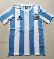 Argentina 86 Retro Maradona Soccer Jersey 2021 Copa América Messi Home Away Away Blue Mens Aguero Dybala Icardi Camisa de futebol