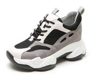 Mode 2019 Schuhe Dad Frauen neue Herbst starke untere lederne intelligente geräucherten Sport Freizeitschuhe Damenmode Sportschuhe Stiefel laufen