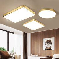 Oturma odası Yatak odası çalışma odası ışık Amerikan Tavan Lambası Fikstür İçin Bakır gövde İskandinav lamba Modern Led Tavan Lambaları