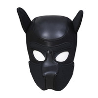 New Design Bondage Gear Dog Hood Black Red Puppy Mask Muzzle for Sexual Play BDSM Erotic Costume Head Harness Removable Mouth Pad