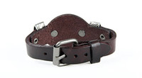 Mode Halley Cuir Punk Skull's Bracelet Bracelet Bracelet Design Rock Skull Homme Bracelet Bijoux Livraison Gratuite