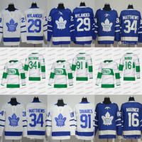 2019 Toronto St. Pats 16 Mitch Marner Trikot Toronto Maple Leafs # 91 JohnTavares 34 Austonmatthews William Nylander Leafs Hockey-Trikots