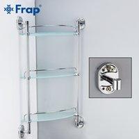 شنت رفوف الحمام FRAP 3 طبقات الزجاج مرحاض متعدد الأغراض رفوف الحائط حمام شامبو سلة اكسسوارات الحمام
