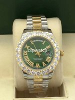 New Style Luxuxdiamantentwurfs Uhren 6 Stil Two Tone 43mm Bigger Diamant Lünette Automatik Mode Herren Zinke Set UhrWatch