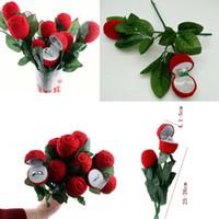Cadeau de mariage Boîtes Rose de transport en forme d'anneau Boîte Mini rouge mignon cas pour les anneaux Vente Hot Box Affichage Bijoux Boîtes d'emballage cadeaux
