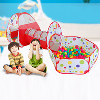 3 In 1 Kids Pop Up Play House Tents Tunnel Children Baby Kid...