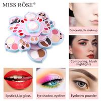 MISS ROSE Rotating style coussin d'air couleur prune grande plaque de maquillage de fard à paupières transfrontalier maquillage multi-fonctionnel mis en cosmétique combinaison