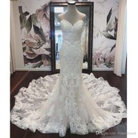 Elegant Sweetheart Mermaid Wedding Dresses Tiered Skirts Tul...