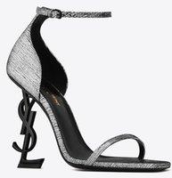 Con zapatos de diseñador Box 2020 patentes de oro de eden del cuero de tacón zapatos de boda de la manera de Modest Edén del tacón alto de las mujeres del partido de tarde de 10 cm 8 cm